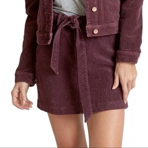 Dear John purple corduroy skirt